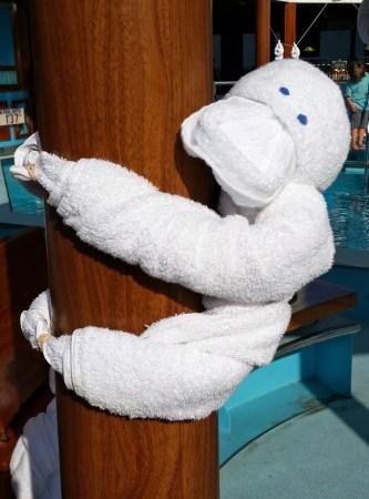 Towel Animal Zoo on the Carnival Sunshine