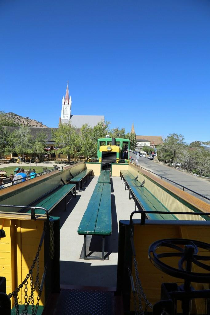 train coming into station at Virginia City Nevada