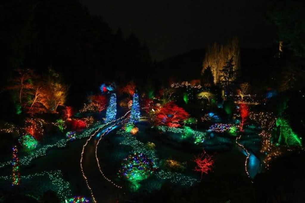 Blog Buchart Gardens with Christmas Lights Victoria BC