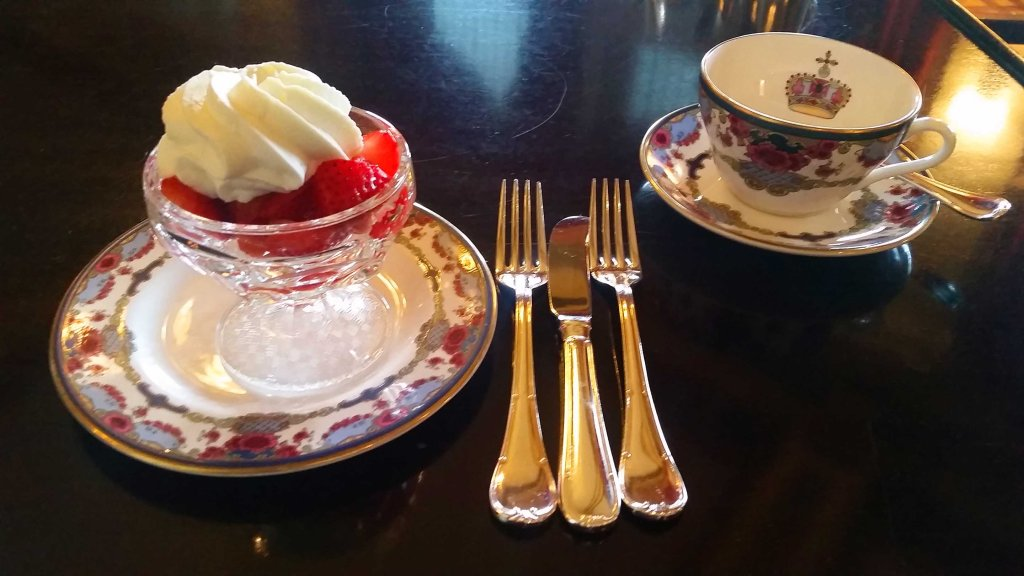 Blog Strawberries and Creme at Afternoon Tea at The Empress Victoria BC