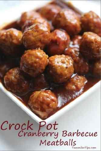 crock pot cranberry barbecue meatballs