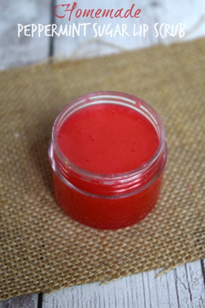 Homemade Peppermint Sugar Lip Scrub