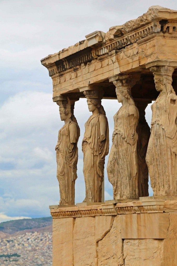 The ladies on top of the Acropolis