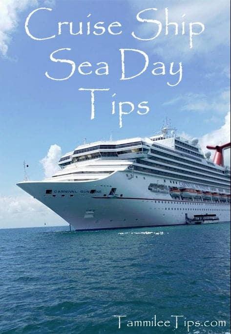 Cruise Ship Sea Day Tips
