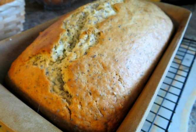 Lemon Almond Poppy Seed Bread Recipe