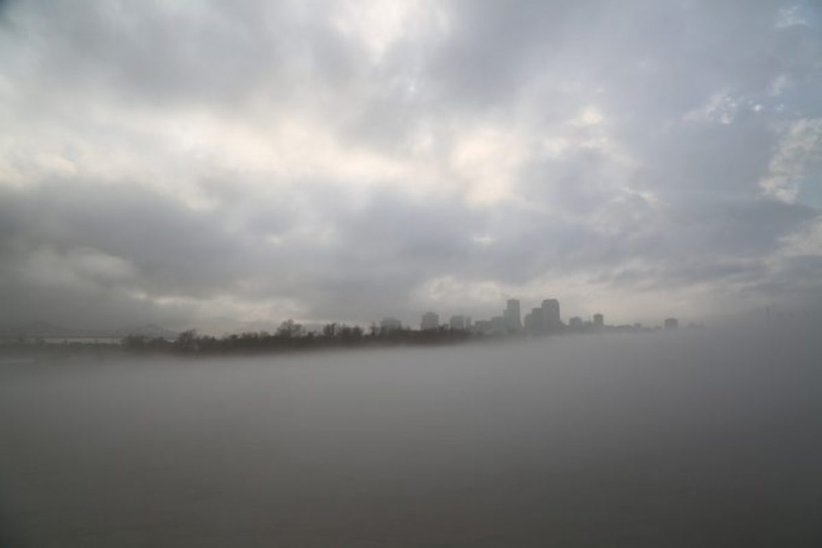 New Orleans in the fog