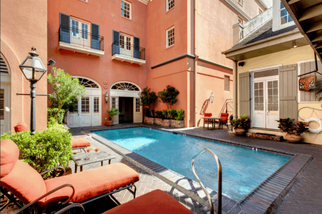 Dauphine Hotel Salt Water Pool New Orleans