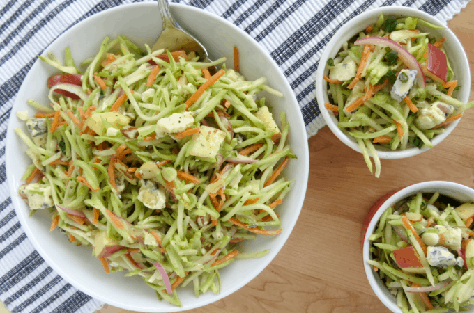 Easy Broccoli Slaw Recipe you can make tonight!