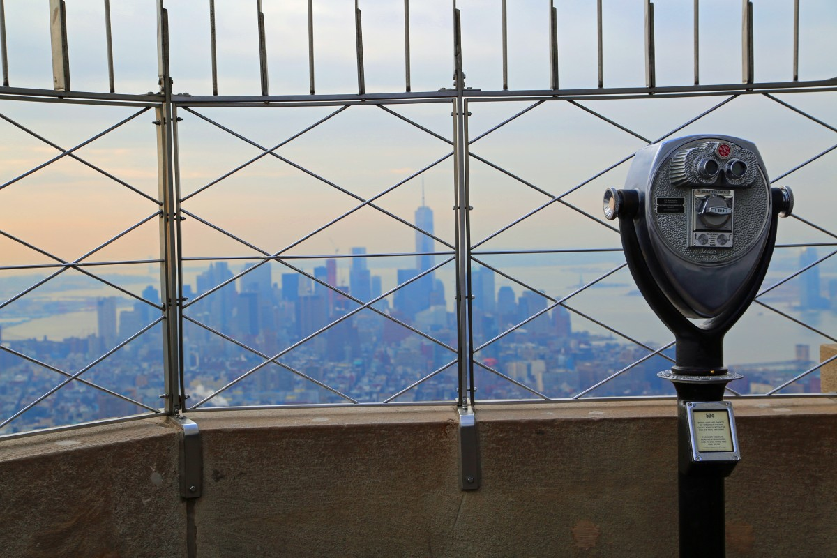 overlooking New York from the Empire State Building