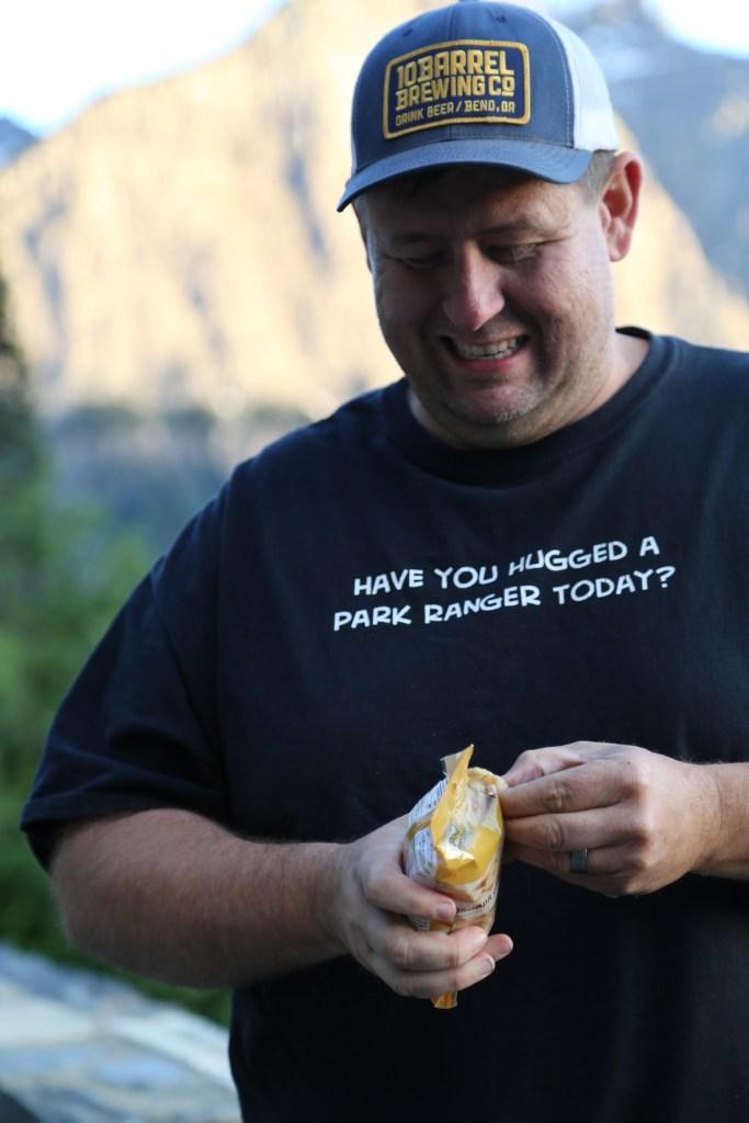 John enjoying CVS Snacks