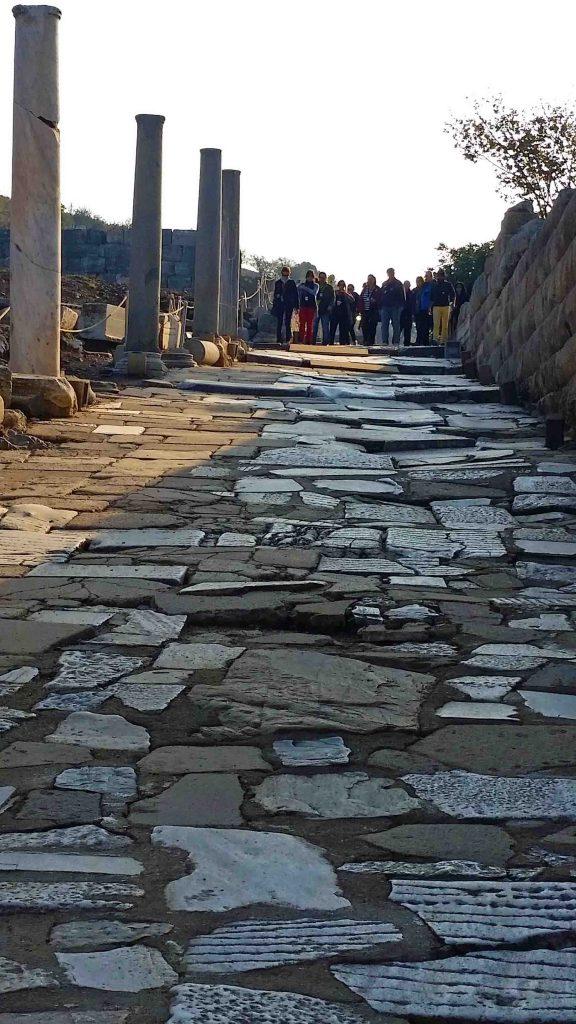 Blog uneven ground in Ephesus Turkey