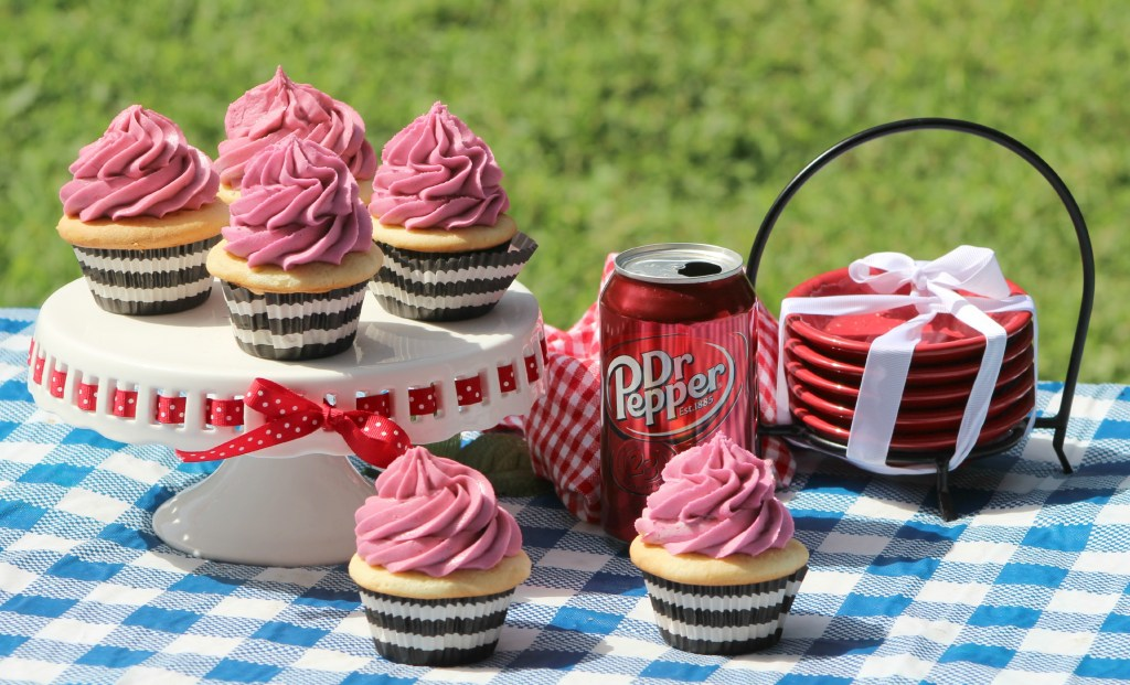 Easy made from scratch Dr. Pepper Cupcakes Recipe you will love. Great for birthday parties, summer picnics or any day of the week.