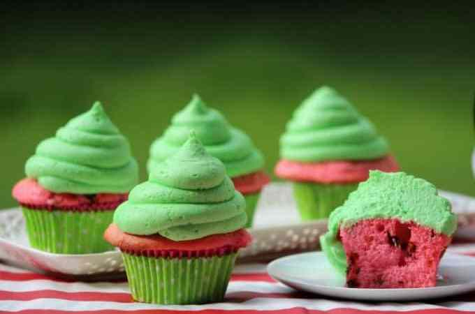 Super cute Watermelon Cupcake Recipe