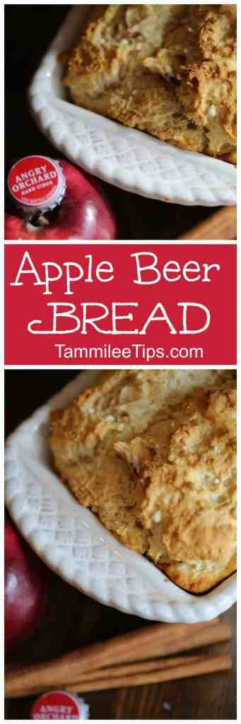 3 ingredients is all you need to make this easy Apple Beer Bread Recipe! So simple to make in the oven your family will love it! Great for fall, holidays, Thanksgiving, Christmas. Easily make DIY Homemade Gifts with the mix and beer.