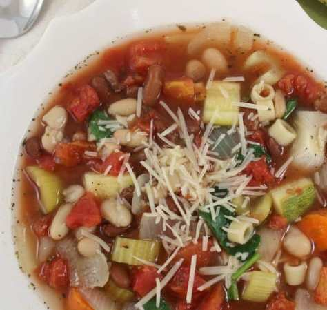 Crock Pot Copy Cat Olive Garden Minestrone Soup Recipe