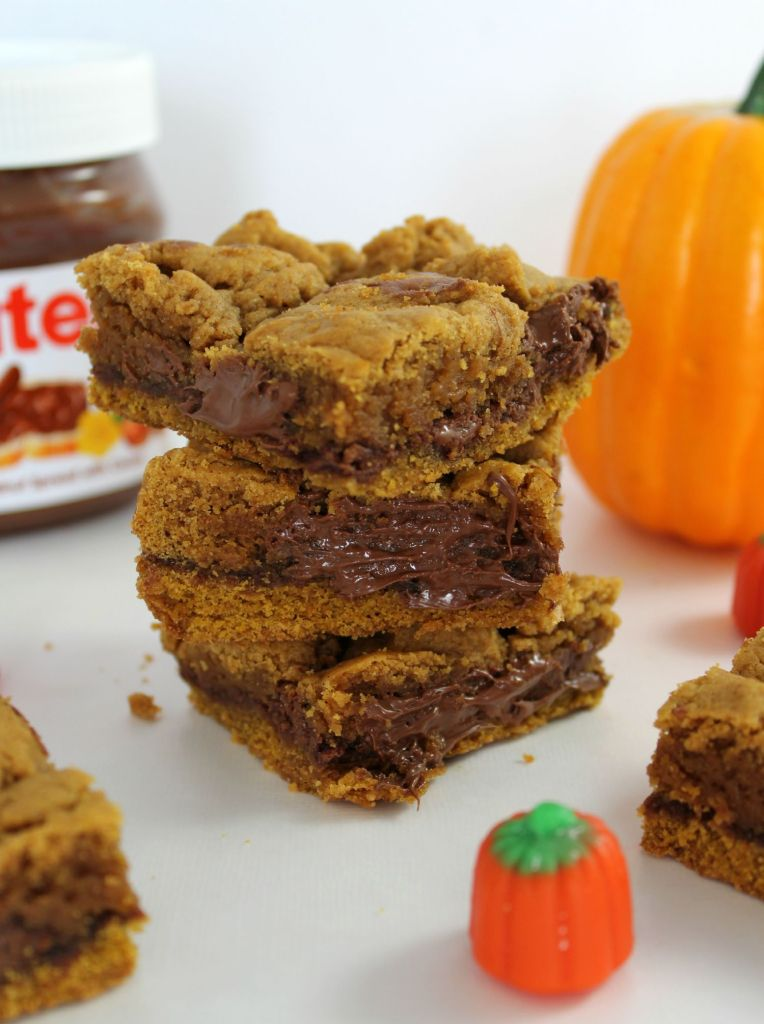 Nutella Pumpkin Bars Recipe