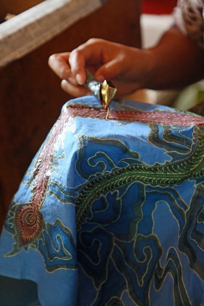 Working on Batik