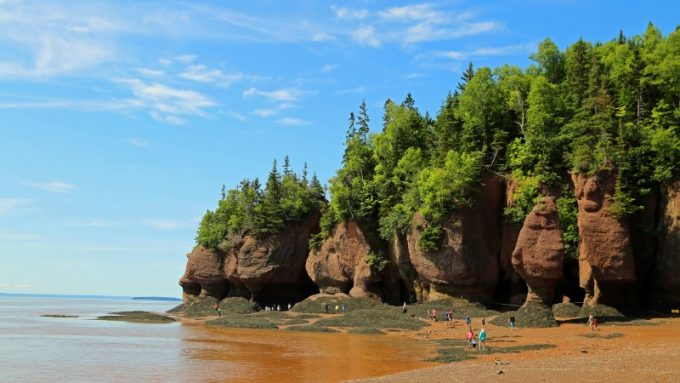 Visiting Hopewell Rocks in New Brunswick Canada