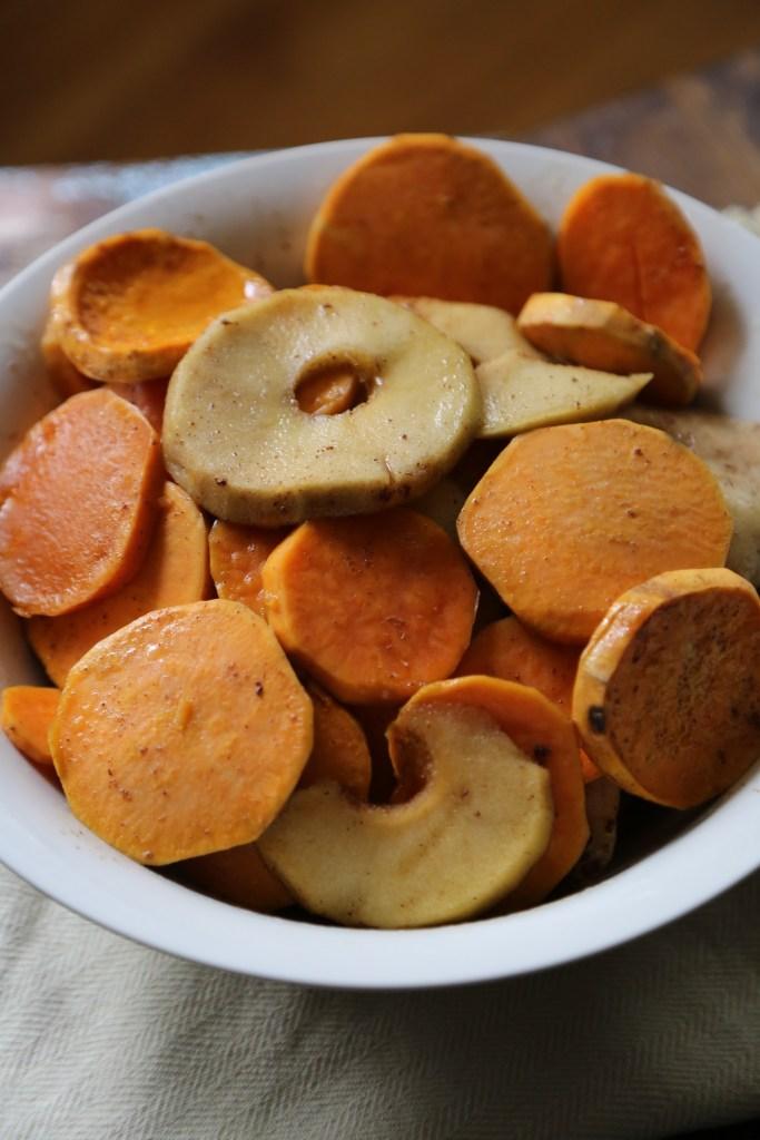 Crock Pot Apple Praline Sweet Potato