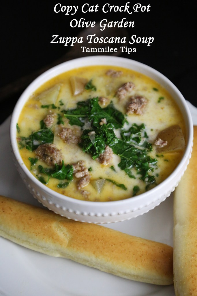 Copy Cat Crock Pot Olive Garden Zuppa Toscana Soup