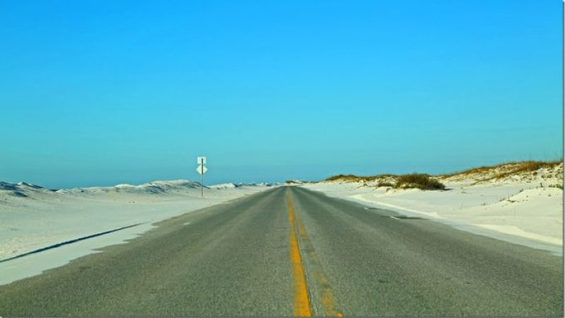 Driving in Gulf Island National Seashore