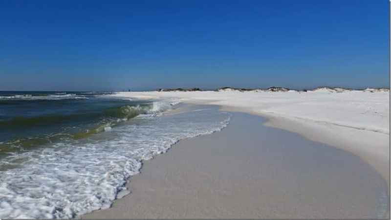 Looking towards Pensacola from Gulf Islands National Seashore