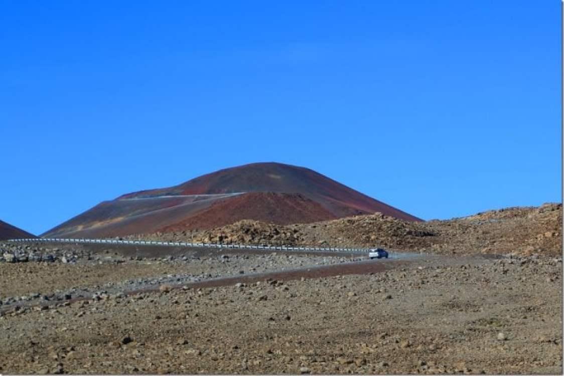 12000 feet above sea level going to summit of Mauna Kea Big Island of Hawaii