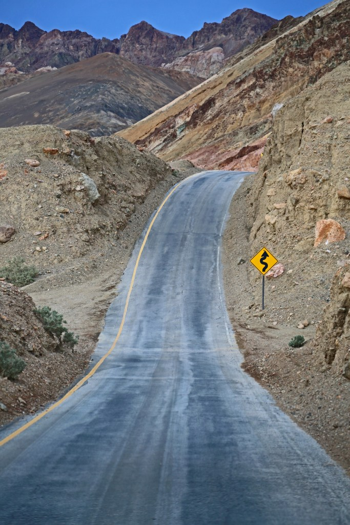 Beautiful drive along Artists palette loop in Death Valley National Park