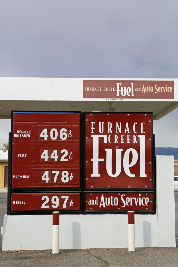Gas at Furnace Creek Fuel