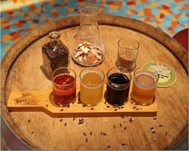 Beer tasting at Brewery Tour