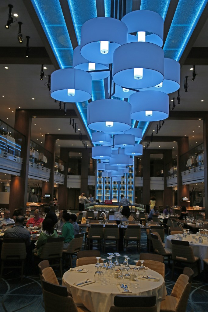 Reflections dining room on the Carnival Vista
