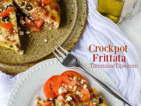 Crockpot Greek Egg Frittata