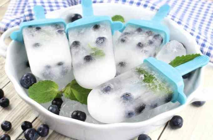 Boozy Blueberry Mojito Popsicle Recipe