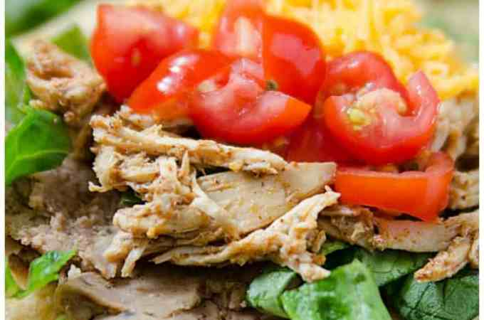 Slow Cooker Crock Pot Mexican Chicken Tostadas Recipe