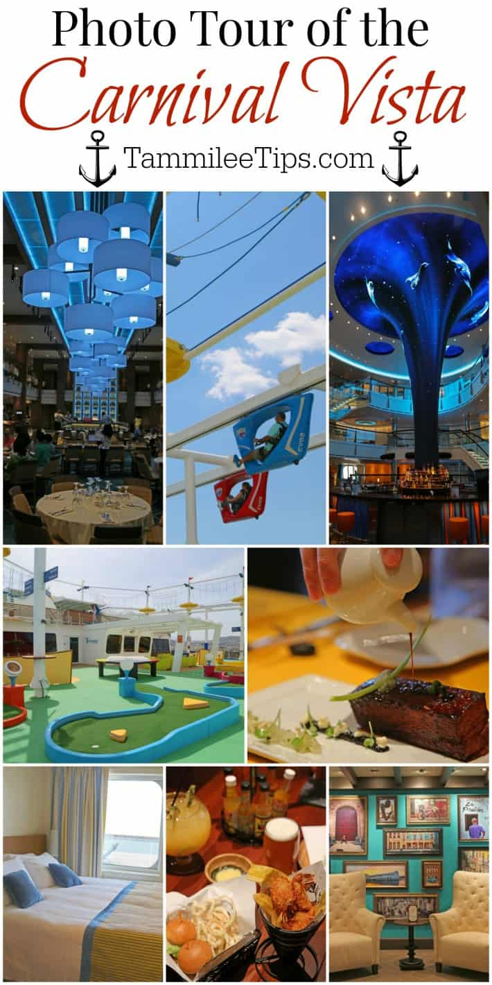 Photo and video tour of the Carnival Vista! From a stateroom video walkthrough to each of the dining rooms and specialty dining everything is included