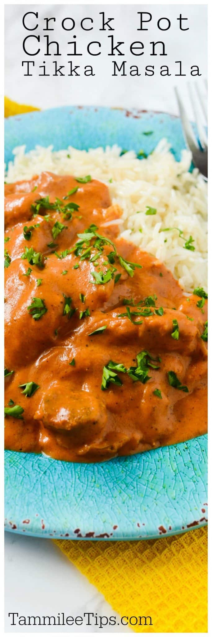 Crock Pot Slow Cooker Chicken Tikka Masala recipe is the perfect comfort food recipe! Easy to make and tastes so good. Perfect for family dinner. #slowcooker #crockpot #chicken