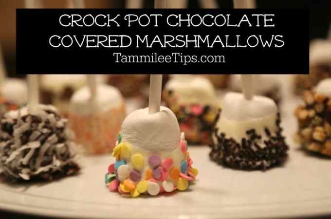 Slow Cooker Crock Pot Chocolate Covered Marshmallow Recipe
