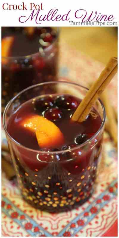 Crock Pot Mulled Wine Recipe great for the holidays! So easy to make and tastes amazing! #recipe #wine #crockpot #slowcooker