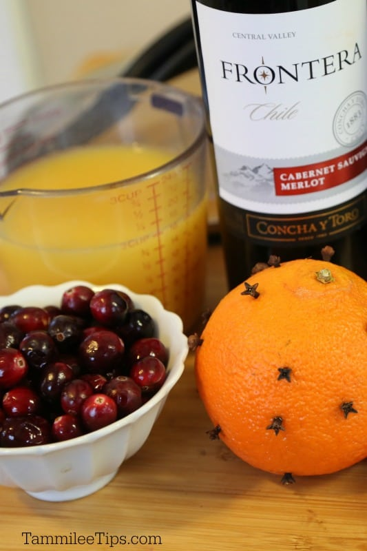 Mulled Wine Slow Cooker Ingredients