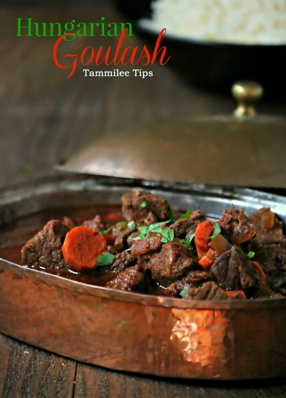Easy to make delicious authentic Hungarian goulash recipe that s filled with beef! The perfect comfort food on a cold winter night #recipe #goulash