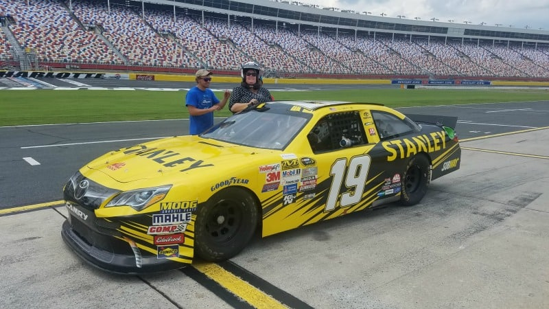 Thrills and prayers at the charlotte motor speedway nascar for Nascar ride along charlotte motor speedway