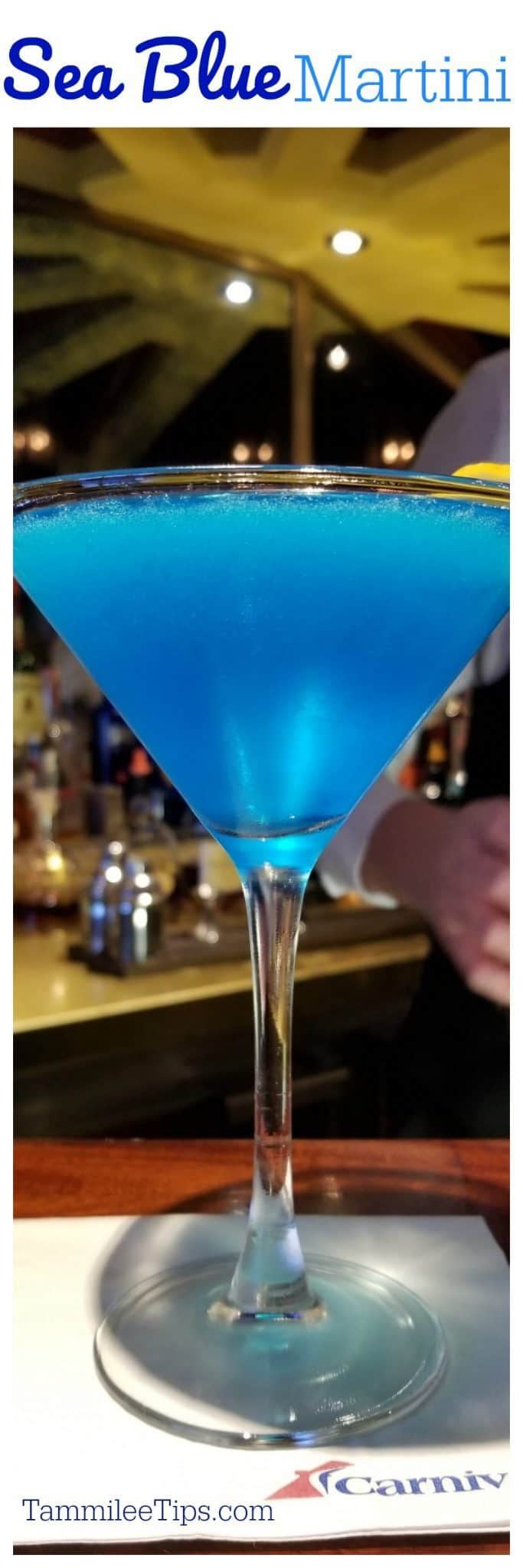 This Sea Blue Martini Recipe is super easy to make and perfect for holiday parties or dinner parties. Surprise your guests with a delicious citrus martini they will love! #cocktail #recipe #martini