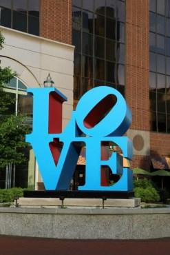 Love sculpture by artist Robert Indiana