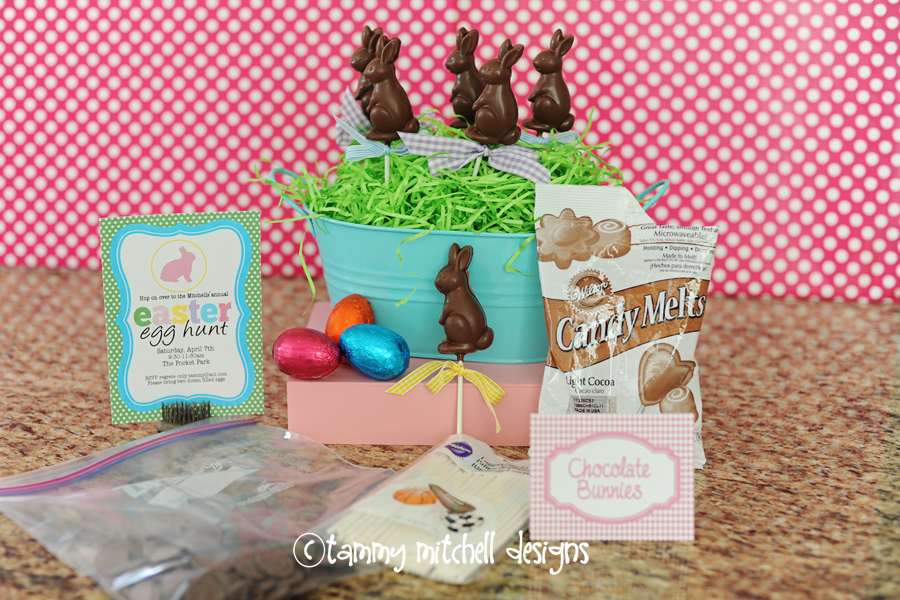 Shaped Chocolate Pops | Easter Bunny Themed Treat Idea by Tammy Mitchell
