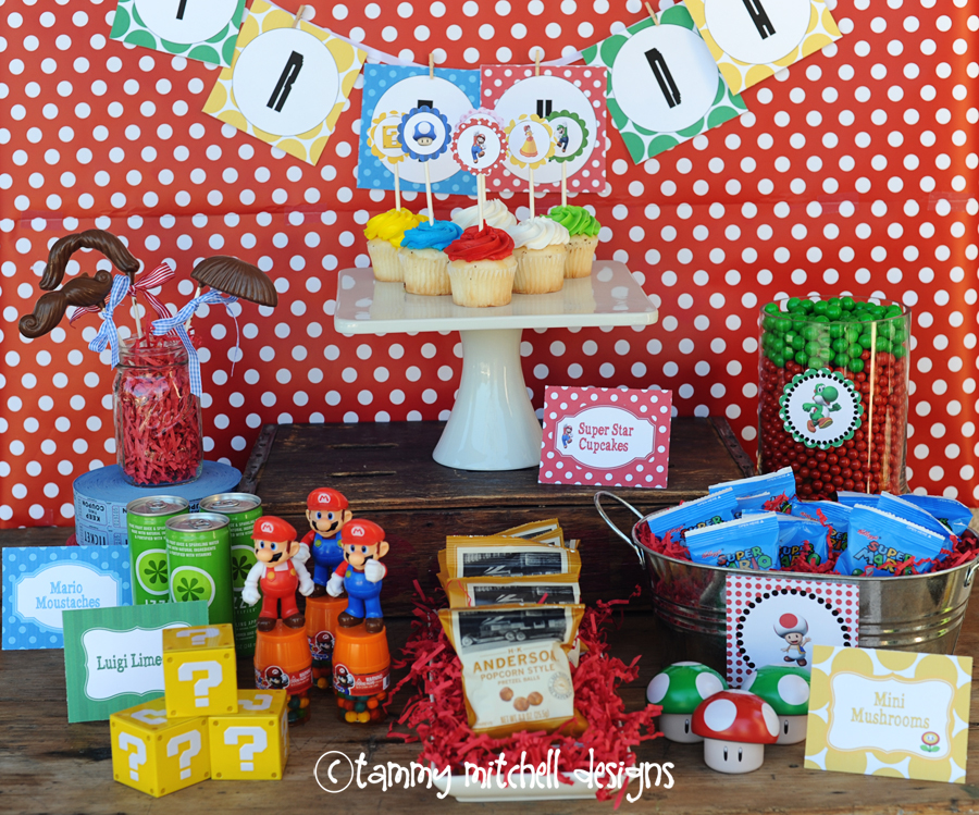 Boy Parties Video Game Parties Super Mario Brothers