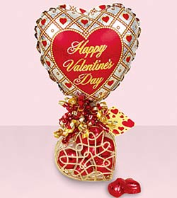 Happy Valentine's Day Balloon and Chocolates from Tammys Floral