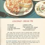 Vintage Coconut Cream Pie Recipe