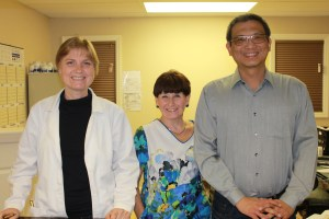 From left to right--Nataliya Sia, ARNP; Teri Reidt, MA; and Sunny Sia, psychiatric NP
