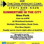 The City of New Port Richey Parks and Recreation Department presents Summertime in the City and Family Movie Night at Sims Park