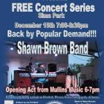 The City of New Port Richey Parks and Recreation present An Evening of Great Jazz by Shawn brown at Sims Park.